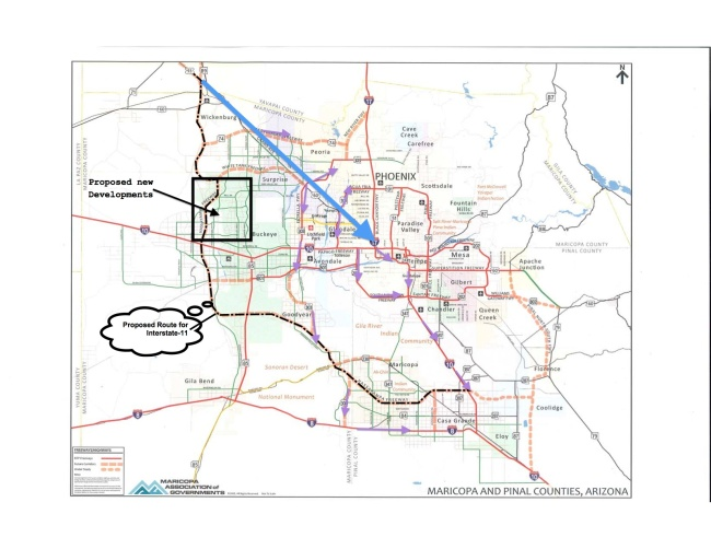 The Proposed Interstate 11 Phoenix And The Amalgamation